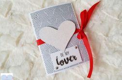 Kartka walentynkowa Serce BE MY LOVER