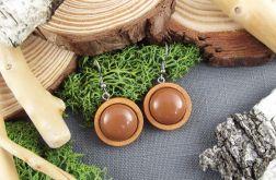 Albera 5- drewniane kolczyki na jesień