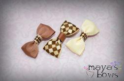 Maya's_Bows Spinki do włosów, Kokardki klasyczne 3 szt