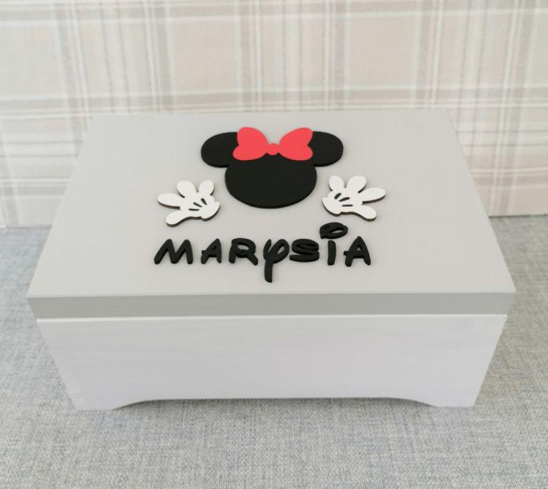Pudełko na skarby XXL- Minnie- MmC13 - pudełko na pamiątki Myszka Minnie