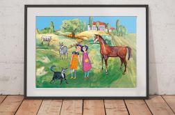 ładny plakat dla dzieci kolorowy obrazek