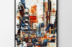 Plakat town abstrakcja 50X70 B2