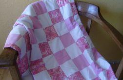 narzuta patchwork różowa