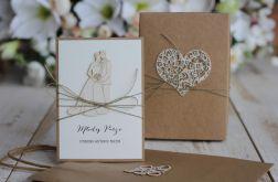 Rustykalna kartka ślubna z pudełkiem 27