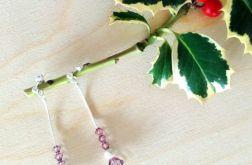Kolczyki Swarovski Crystals Pudrowy Róż