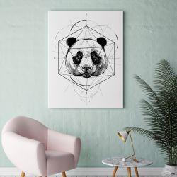 Plakat panda geometria 50x70 cm B2