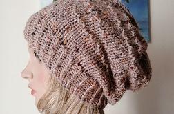 Tweedowy akcent czapka