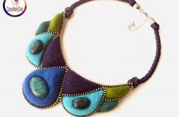 Naszyjnik z zamka i filcu - Zipper necklace
