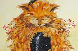 """""""I w kocie jest Wszechświat"""" obraz akrylowy"""