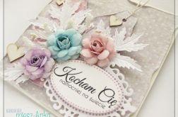 Romantyczna kartka z kwiatami 2