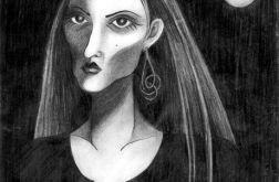 Pani noc- oryginalny rysunek 0503