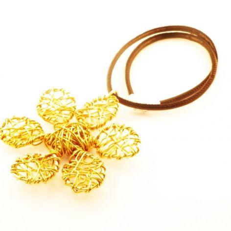 """Wisior """"Kwiat złoto"""""""