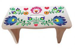 Stołek Taboret Ręcznie Malowany Folk