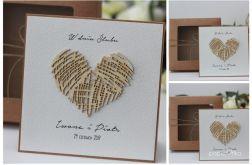 Stylowy zestaw kartka pudełko rustyk A