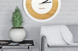 NOWOCZESNY zegar CZYTELNY ścianę KOŁO design