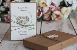 Rustykalna kartka ślubna z pudełkiem 29a