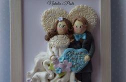Aniołki Parka ślubna w ramce 3D