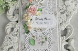 Ślubna kartka DL w pudełku z okienkiem 33
