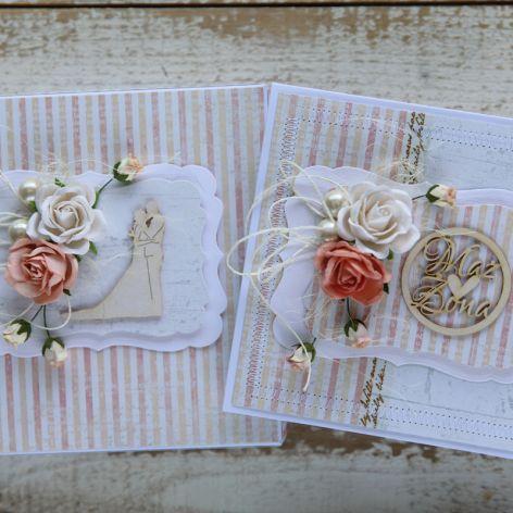 Kwiatowa kartka ślubna z pudełkiem A1