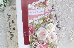 Ślubna kartka kaskadowa w pudełku 450