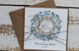 Kartka na chrzest z kopertą - życzenia i personalizacja 2g