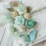 Optymistyczna kartka urodzinowa w pudełku v.6 - kartka zielona2