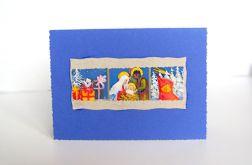 Granatowa kartka świąteczna 1