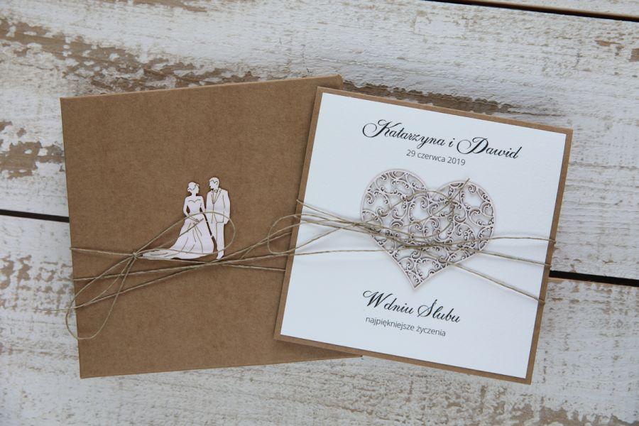 Oryginalna kartka ślubna i pudełko 2