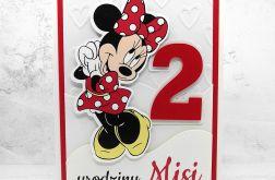 Kartka na urodziny z Myszką Minnie UDP 007