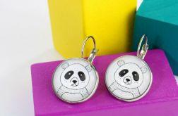 Kolczyki wiszące Pan Panda