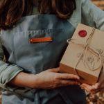 Kubek muchomor z przykrywką i zaparzaczem - Opakowanie prezentowe