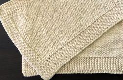 Podkładki pod talerz z bawełnianego sznurka. Kolor ecru.
