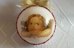 Świąteczna bombka akrylowa z aniołkiem