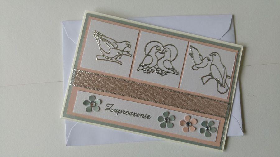 Zaproszenie ślubne (2) - Do kartki dołączona jest odpowiednia koperta