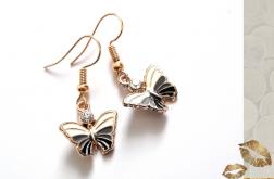 Kolczyki z serii Whitegold - Motyl