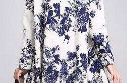 sukienka oversize w kwiaty