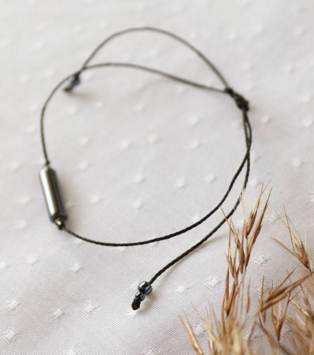 Czarna bransoletka z hematytem - Bransoletka na rękę