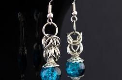 Kolczyki chainmaille niebieskie