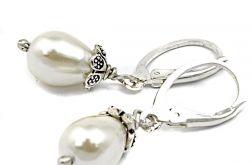 Kolczyki - białe perły