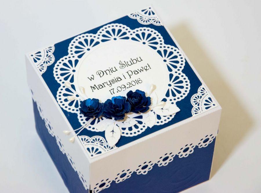 Kartka - pudełko z okazji ślubu