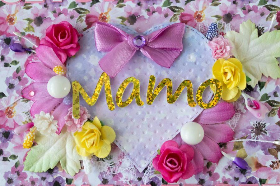 Kartka Czekoladownik Merci Dzień Matki  - Zbliżenie