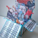 Kartka Pop up, Boże Narodzenie, święta.