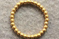 Pure Gold pierścionek elastyczny złoty