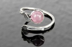 Pierścionek srebrny z różowym turmalinem