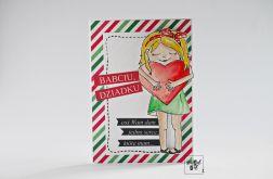 Kartka dla Dziadków z dziewczynką