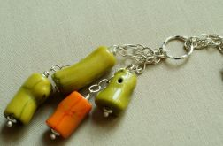 Zielony koral_długi wisiorek