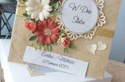 Kartka w pudełku ślub
