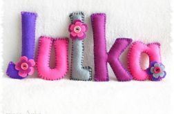 LITERKI - imię Julka