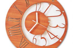Nowoczesny zegar ścienny ścianę wiszący KOLOR