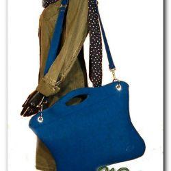 Oryginalna, uniwersalna niebieska torba